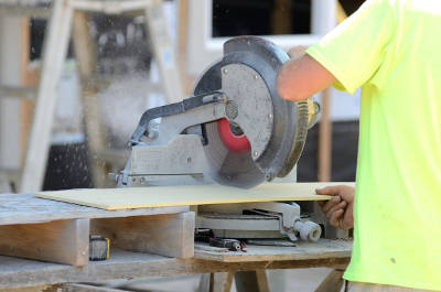 cutting fiber cement siding with a saw