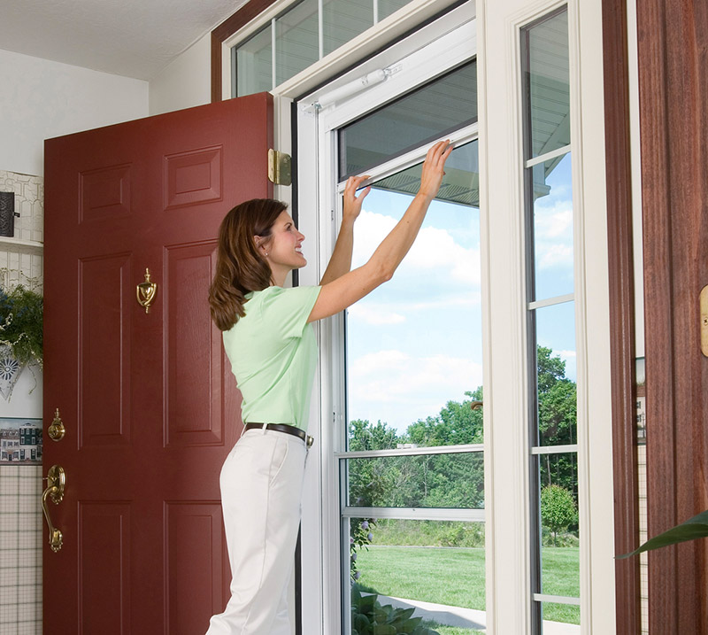 retractable screen storm doors