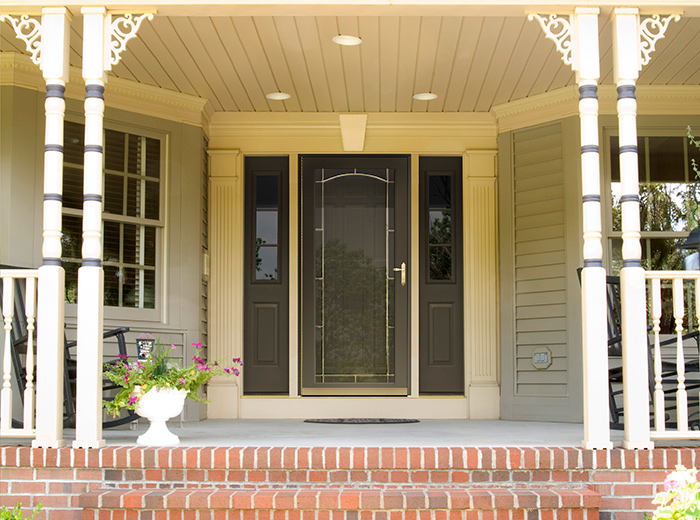 types of storm doors