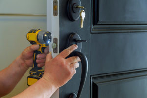locksmith changing exterior door locks