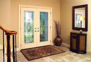 fiberglass and steel entry doors secure